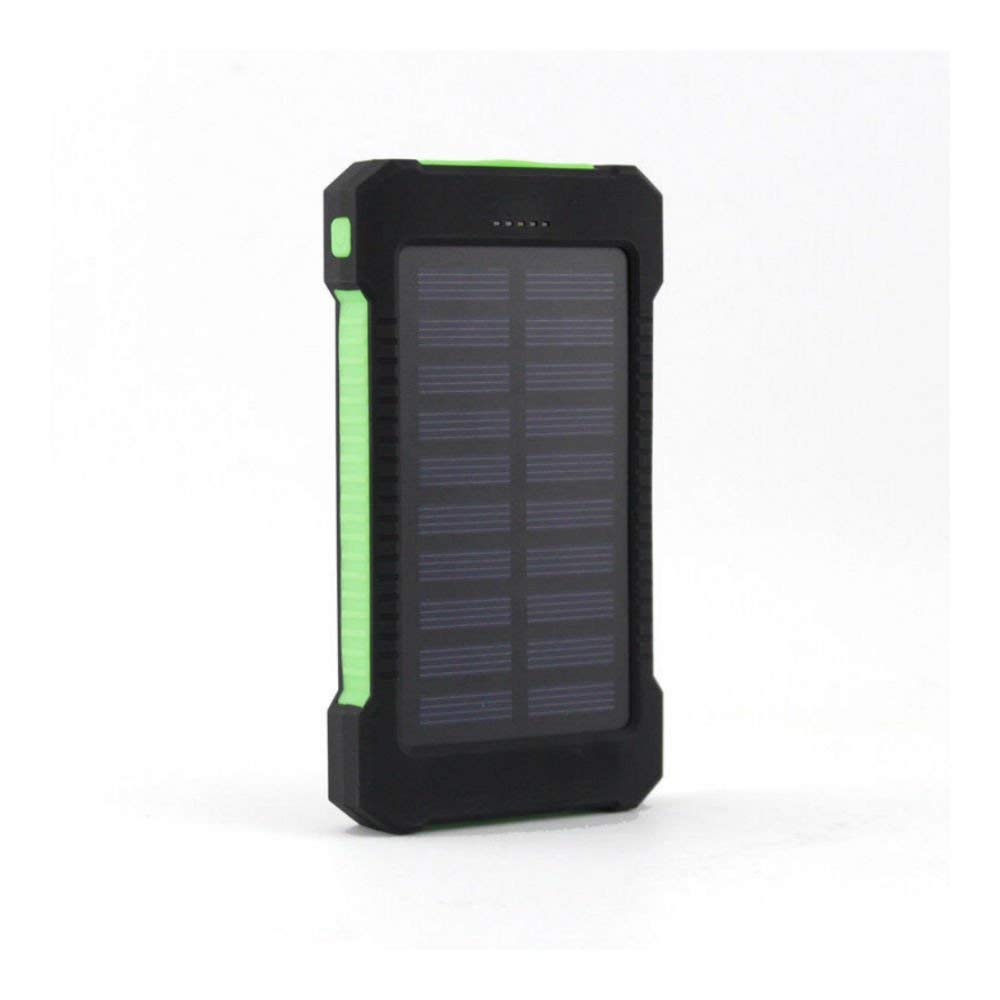 Green US 50000mAh Solar Power Bank 2 USB LED External Battery Charger For Cell Phone
