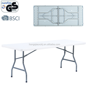 heavy duty 6.56ft plastic folding trestle tables extra wide wholesale 8-10 seaters