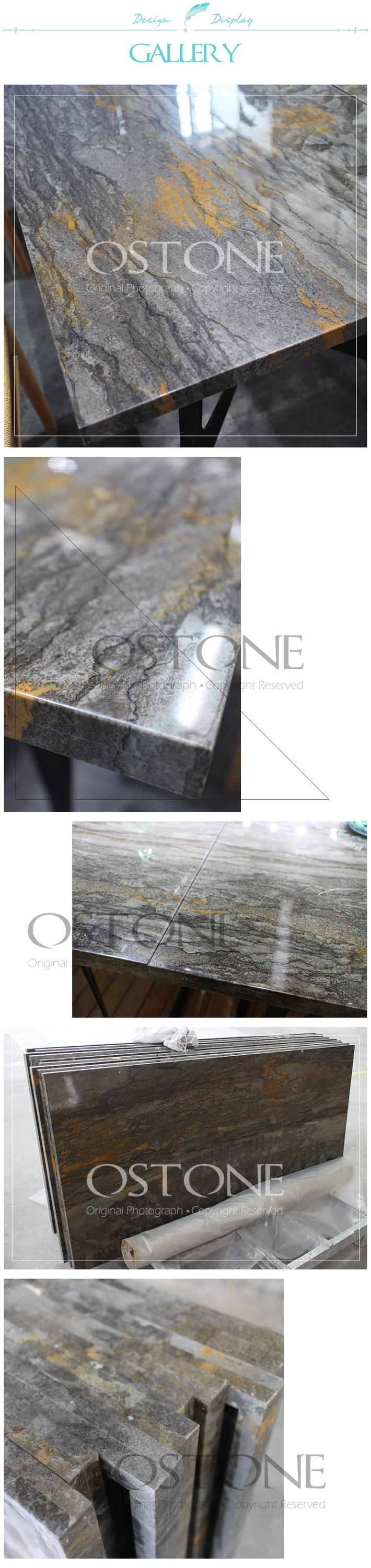 Solid Surface Andes Landscape Marble Table Top Replacement, Marble Slab Table  Top