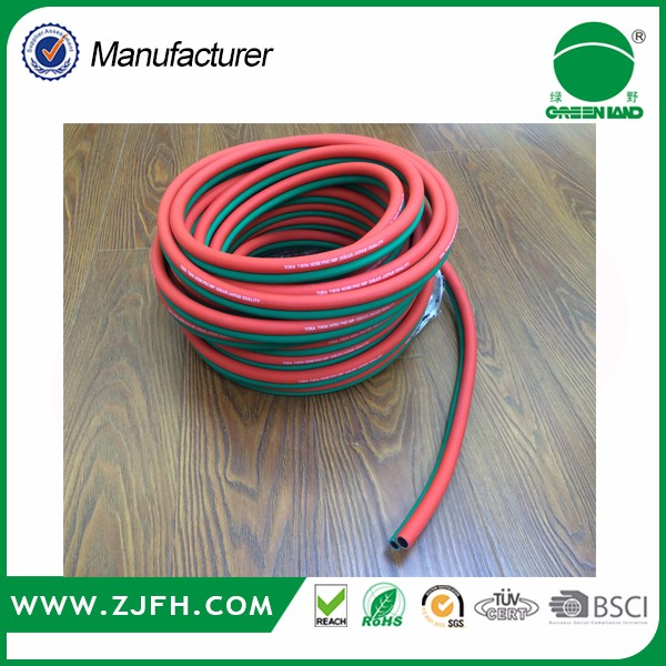 high quality 8.5mm,10mm pvc and rubber Oxyen Acetylene twin welding hose for gas