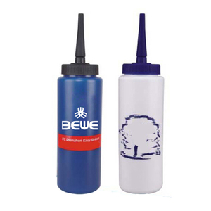 factory made LFGB promotional 1000 ml OME printed different color long straw cheap customized plastic hockey water bottle