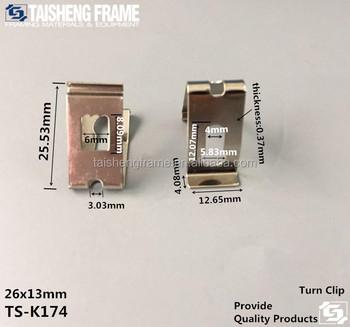 Tsk174 Small Size Turn Clip V Clip Button Picture Frame Backboard