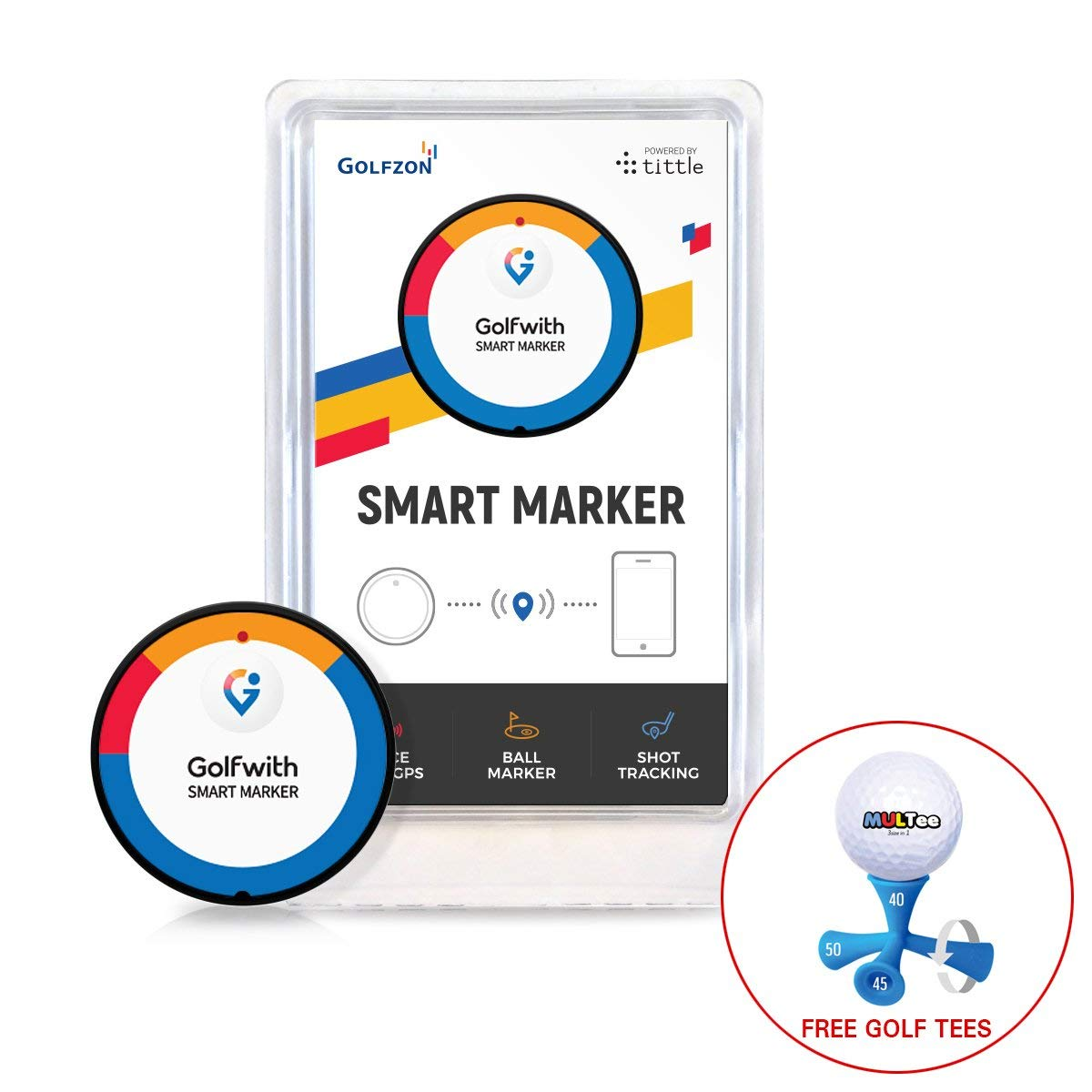 Golfwith Smart Marker with Multee Bundle