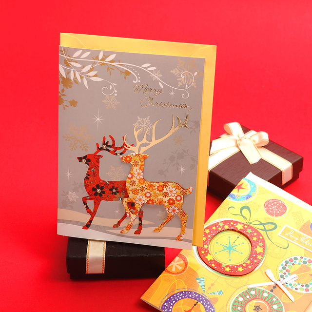 Buy cheap china paper us greeting card products find china paper us luxury 250gsm coated paper 3d handmade gold stamping christmas greeting cards designs for xmas wishes m4hsunfo