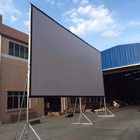 "300"" Fast fold projection screen with front and rear material (flight case )"