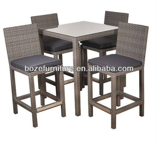 Wickwe tabouret bistro meubles jardin bar table haute et - Table et tabouret bar ...