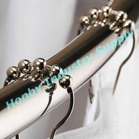 Rod Glide Roller Ball Shower Curtain Rings