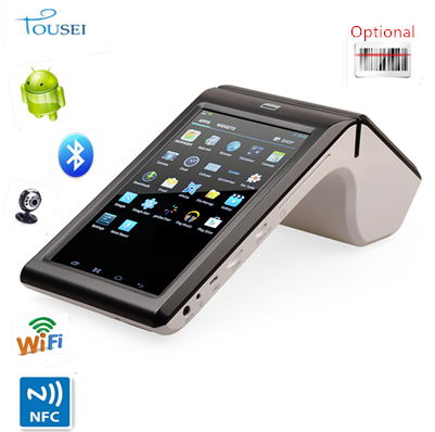 Android rfid pos terminal 58 printer thermal driver TS-7002 with NFC/Barcode scanner/card reader