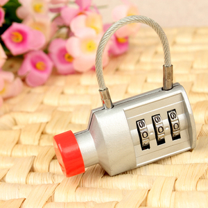 CH-002 3 digits Wine bottle shape cable combination lock
