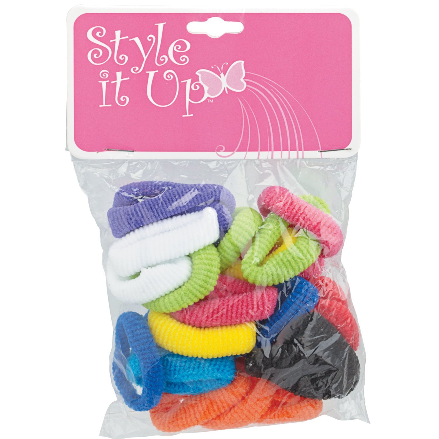 Style It Up Children's Small Terry Ponytail Holders