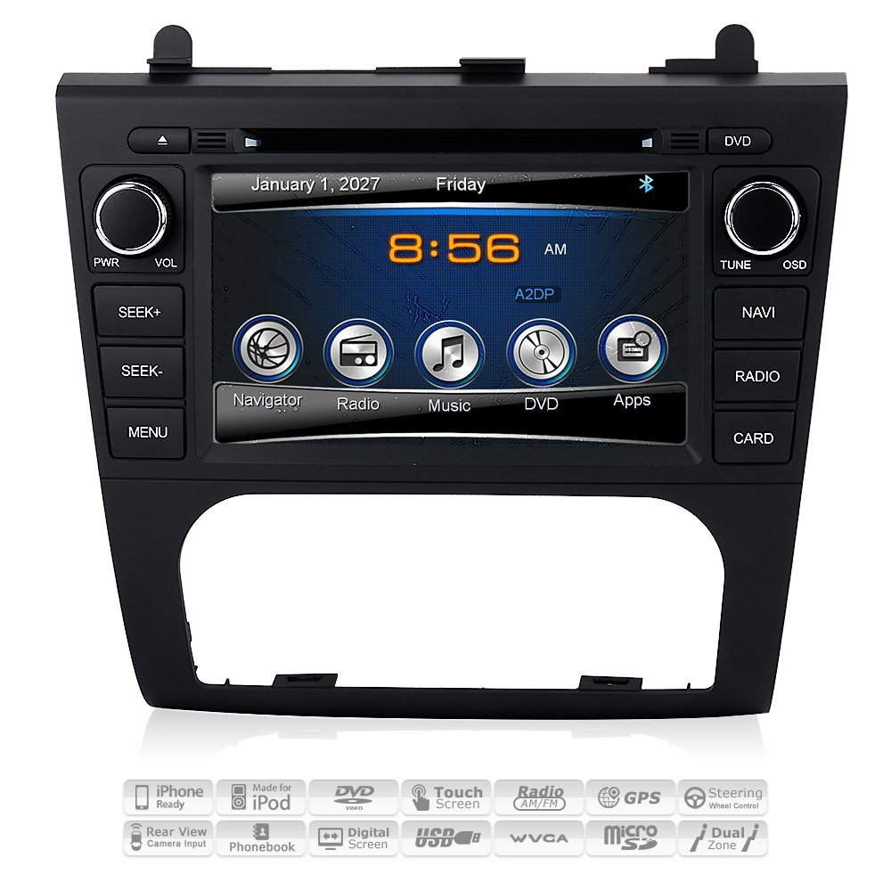 Get Quotations 2007 08 09 10 11 12 Nissan Altima In Dash Gps Navigation Dvd Stereo Bluetooth