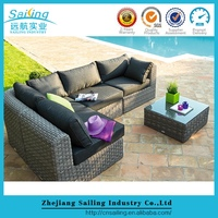 All Weather Fashion Garden Outdoor Rattan Furniture Sectional Sofa