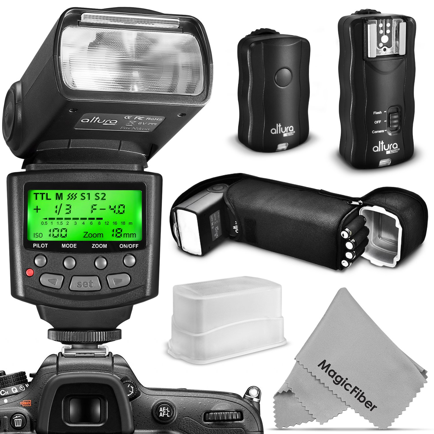 Cheap Nikon Wireless Flash Find Deals On Line Universal Godox Tt520 Ii Free Trigger Diffuser Get Quotations Altura Photo Professional Kit For Dslr Includes I Ttl