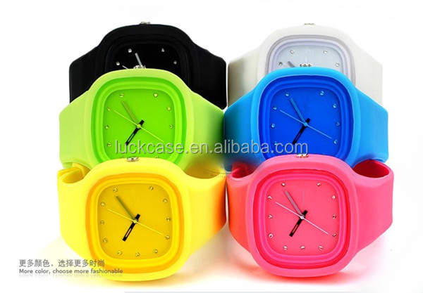 Custom silicone jelly slap watches