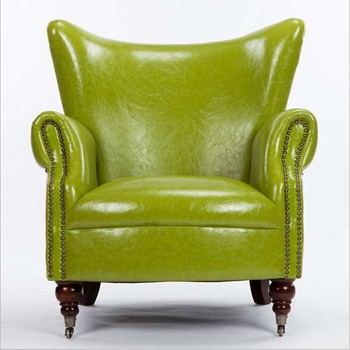Bright Color Leather Wing Chair Sofa Buy Wing Chair Sofa Green Color Leather Sofa Leather Wing Sofa Product On Alibaba Com