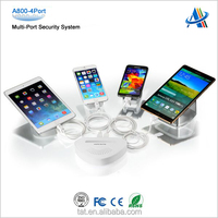Security solutions for merchandise on display,4 ports mobile phone alarm stand holder A800-4port