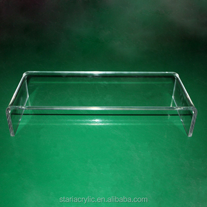 "Clear Acrylic Monitor/TV Stand Computer Screen Riser Stand Display Rack 20"" Monitor Riser Stand with Keyboard Storage"