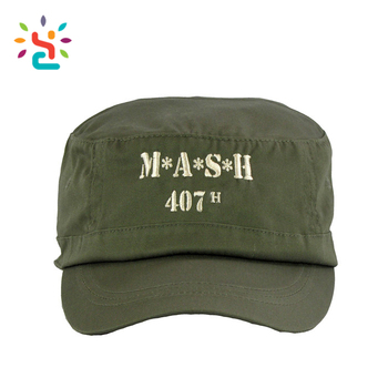 b7787f5882acc Wholesale Indian army cap handsome flat top caps embroidery label Military  Indian Policeman Army Cap And