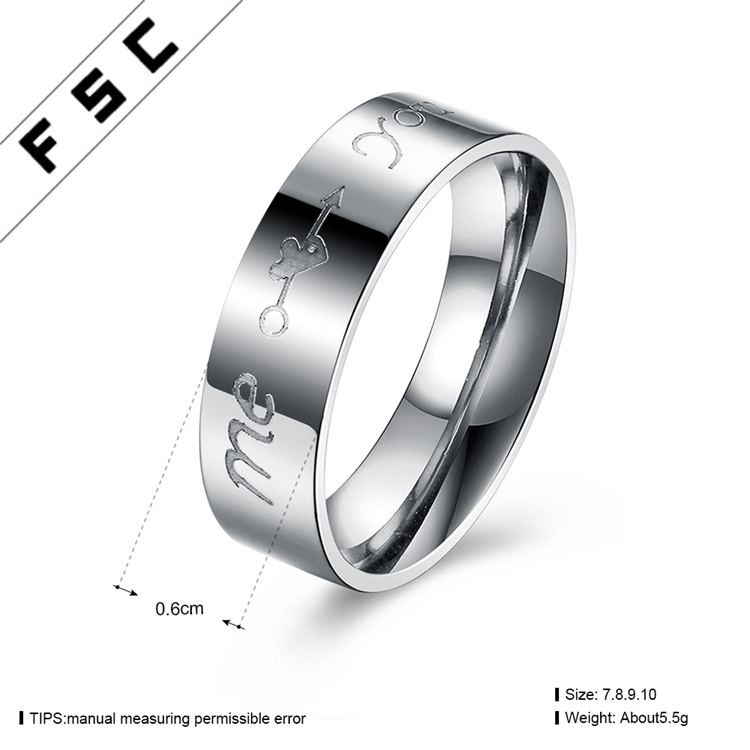 Heart Imprint Couple Engagement Wedding Rings For Valentines Day