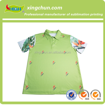 0e3799d7 Quick dry shivering flowers design dye sublimation printed Kid's polo Tee  shirts