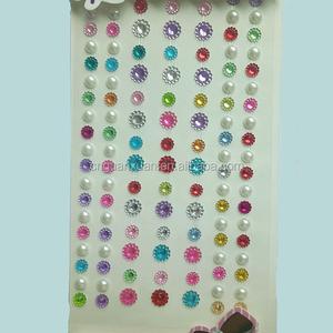 6a8d5732da Self Adhesive Pearls And Rhinestone Stickers, Self Adhesive Pearls ...