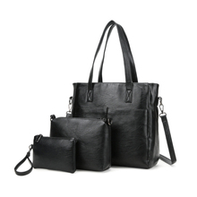 New products 3 pieces set fashion leather ladies bags handbag for women from China