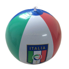 sports game promotional inflatable beach ball with logo