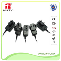 Best Selling 12W Series 5V2A 5V2.5A 6V2A 9V1A 12V1A 24V0.5A AC Power Adapter with UL FCC CE GS CB KC PSE