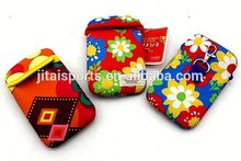 SBR/ neoprene /rubber cell phone pouch with sublimation printing