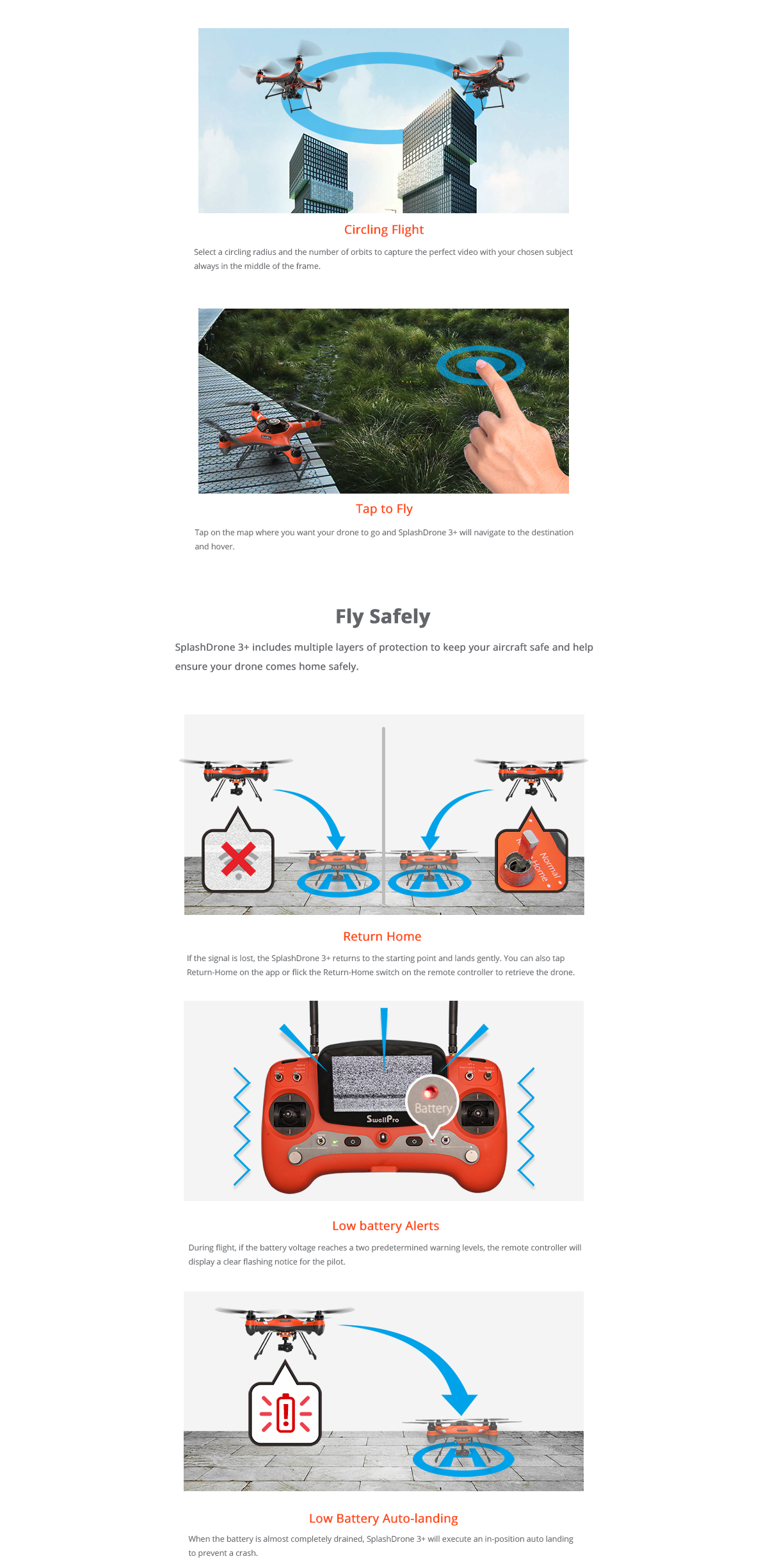 Swellpro Splash Drone 3 Waterproof UAV Drone + 3 Axis Brushless Gimbal and 4K Camera