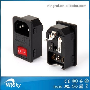 Iec C14 Ac Power Inlet Socket With Fuse And Switch - Buy Power Inlet Iec Fuse With Switch Wiring Diagram on