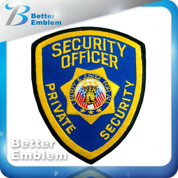 Embroidery SECURITY OFFICER Shield Patch