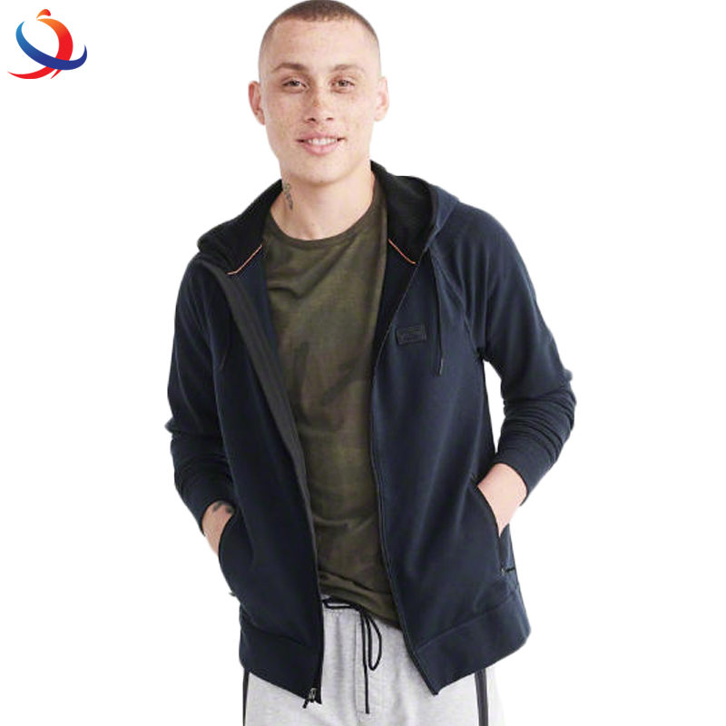 100%Cotton Hip Hop Winter Clothing Zipper Men Hoodie With High Quality