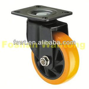 Heavy Duty Industrial Hardware PU Castor Trolley baby bed casters