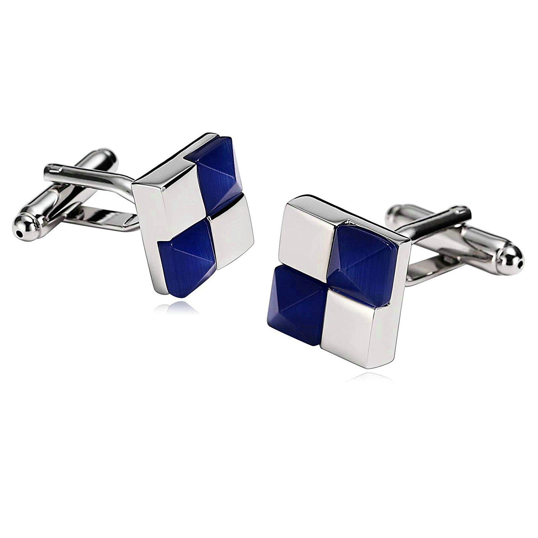 Aooaz [4 Styles] Men Stainless Steel Cufflinks 2PCS, Novelty Shirt Cufflinks Suit Business, With Gift Box