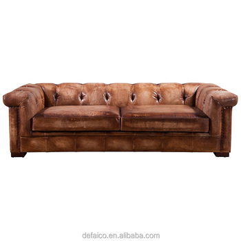 Old American Square Big Size Brushed Leather Sofa Set - Buy Brushed Leather  Sofa Set,Square Big Size Sofa,American Square Sofa Product on Alibaba.com