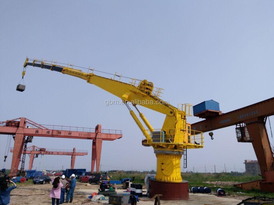 Yacht Hydraulic Crane : Small port marine crane hydraulic ton with abs bv