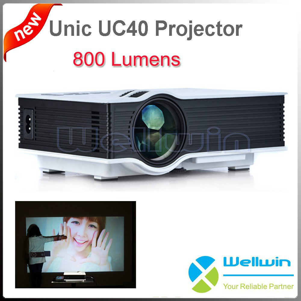 100PCS Customized 800 Lumens Home Theatre Portable Projector UC40