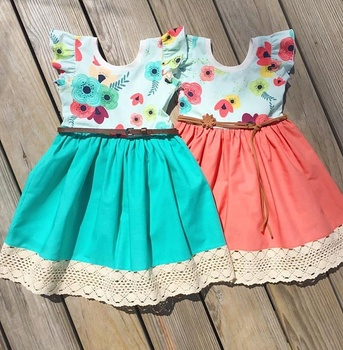 efa5af1a5 Fashion easter design children boutique clothing baby girl dresses ...