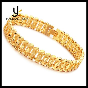 Latest Design Br Material Fine Saudi Arabia Jewelry Mens Gold Bracelet