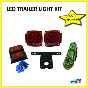 12V LED TRAILER LIGHT KIT DOT SAE APPROVED,STOP TURN TAIL FUNCTION