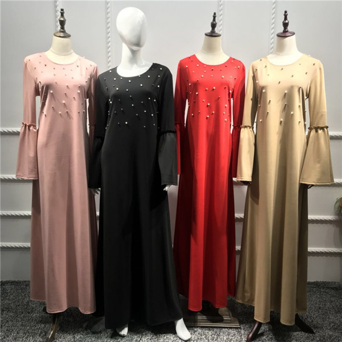 Hot selling islamic clothing 2019 fashion dubai abaya muslim turikish kaftan dress
