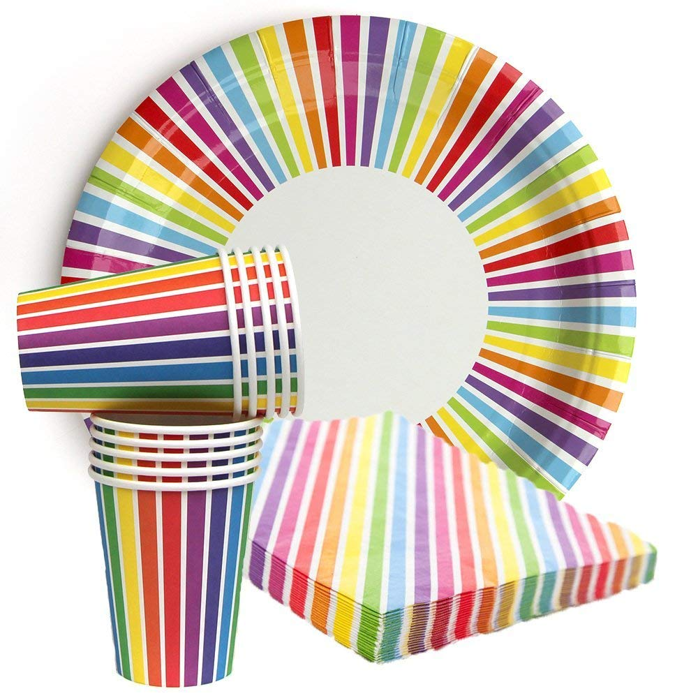 7563a38210187 Get Quotations · We Love Sundays Rainbow Party Bundle