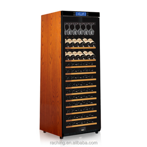 Wood shelves wine fridge and Bois tonneau de vin refrigerateur for France market