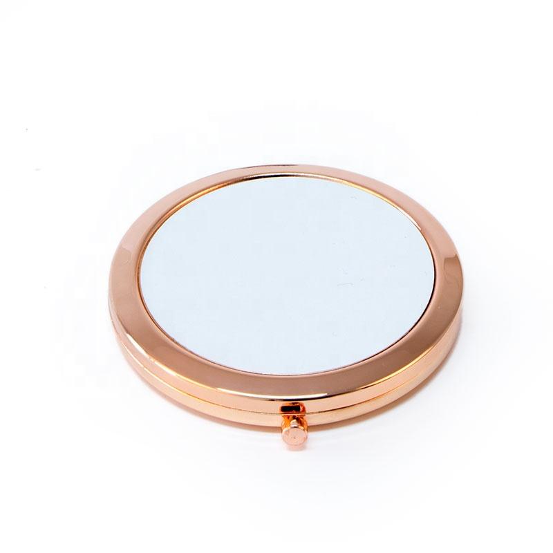 Sublimation Compact Mirror Rose Gold Makeup Mirror DIY LOGO