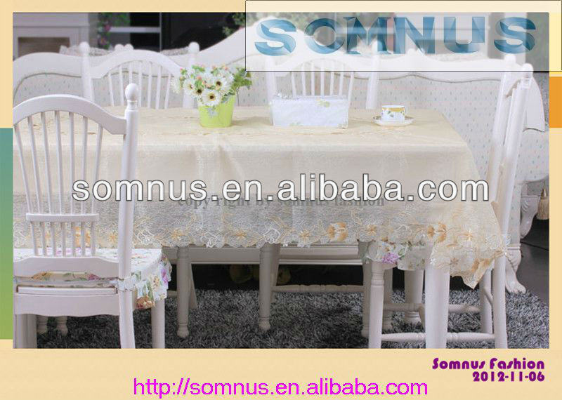 "Somnus Fashion 2013 Embroidery Upmarket Metallic Sequin Table Cloth12*12"" 16""*16"" 12""*18"""