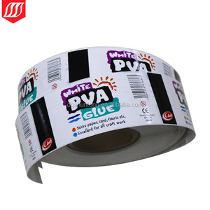 customized sticker roll logo label ,polyester sticker gum label
