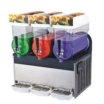 Three tank commercial margarita slush frozen drink machine
