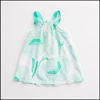 sleeveless shoulder straps print baby cotton frocks designs