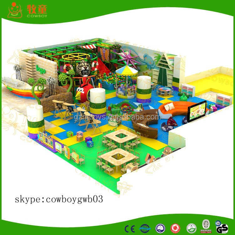 Cowboy Brand Factory-direct free design CE & GS eco-friendly LLDPE kids indoor playground